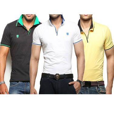 Pack of 3 Cotton Tshirts_combo25