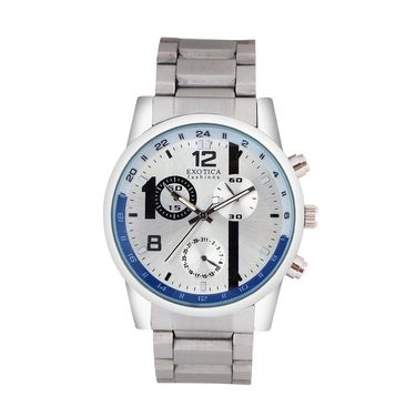 Exotica Fashions Analog Round Dial Watches_E06st2 - Silver