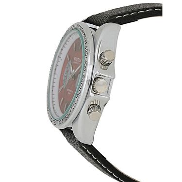 Exotica Fashions Analog Round Dial Watches_E09ls24 - Red