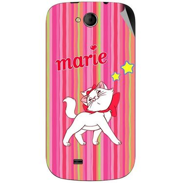 Snooky 46177 Digital Print Mobile Skin Sticker For Micromax Canvas Elanza A93 - Pink