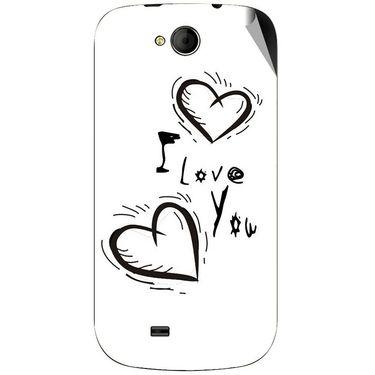 Snooky 46181 Digital Print Mobile Skin Sticker For Micromax Canvas Elanza A93 - White