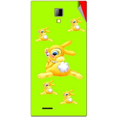 Snooky 46275 Digital Print Mobile Skin Sticker For Micromax Canvas Xpress A99 - Green
