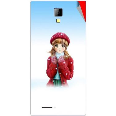 Snooky 46284 Digital Print Mobile Skin Sticker For Micromax Canvas Xpress A99 - White