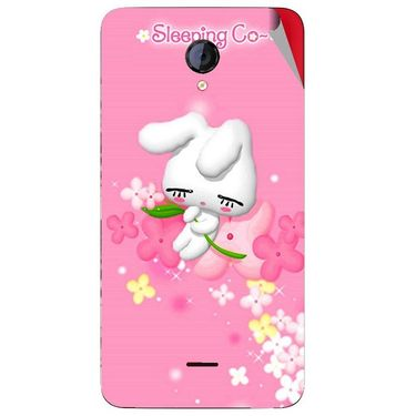 Snooky 46425 Digital Print Mobile Skin Sticker For Micromax Unite 2 A106 - Pink