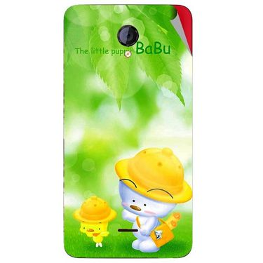 Snooky 46426 Digital Print Mobile Skin Sticker For Micromax Unite 2 A106 - Green