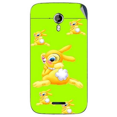Snooky 46595 Digital Print Mobile Skin Sticker For Micromax Canvas Magnus A117 - Green