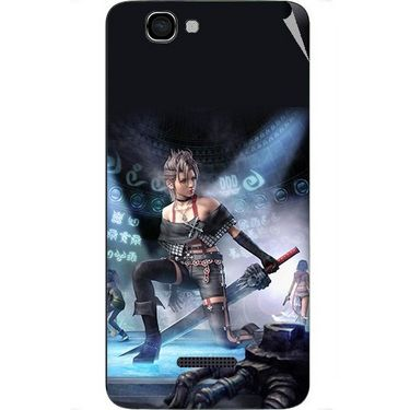 Snooky 46621 Digital Print Mobile Skin Sticker For Micromax Canvas 2 A120 - Blue
