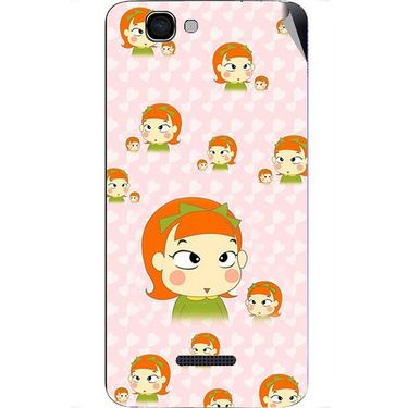 Snooky 46643 Digital Print Mobile Skin Sticker For Micromax Canvas 2 A120 - Orange