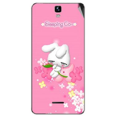 Snooky 46713 Digital Print Mobile Skin Sticker For Micromax Canvas HD Plus A190 - Pink