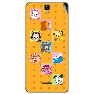 Snooky 46720 Digital Print Mobile Skin Sticker For Micromax Canvas HD Plus A190 - Yellow