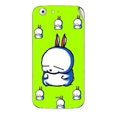 Snooky 46750 Digital Print Mobile Skin Sticker For Micromax Canvas 4 A210 - Green