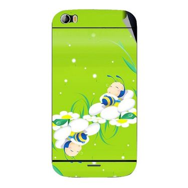 Snooky 46779 Digital Print Mobile Skin Sticker For Micromax Canvas Doodle 2 A240 - Green