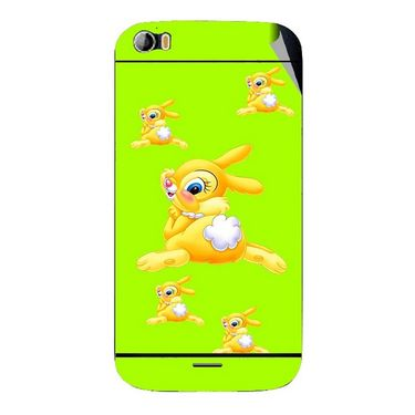 Snooky 46787 Digital Print Mobile Skin Sticker For Micromax Canvas Doodle 2 A240 - Green