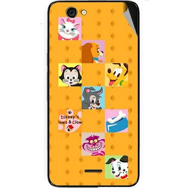 Snooky 46816 Digital Print Mobile Skin Sticker For Micromax Canvas knight cameo A290 - Yellow