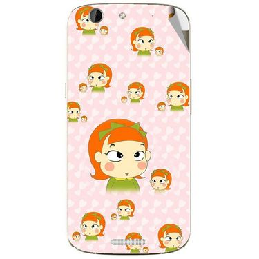 Snooky 46867 Digital Print Mobile Skin Sticker For Micromax Canvas A300 - Orange