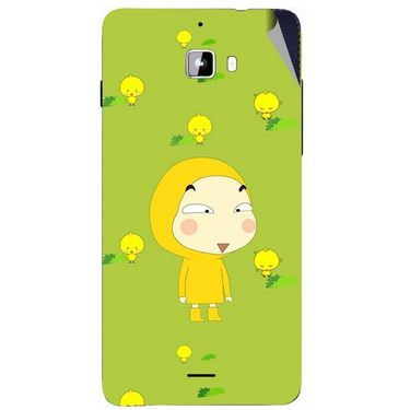 Snooky 46869 Digital Print Mobile Skin Sticker For Micromax Canvas Nitro A310 - Green