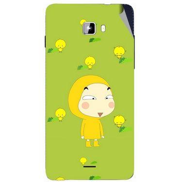 Snooky 46901 Digital Print Mobile Skin Sticker For Micromax Canvas Nitro A311 - Green