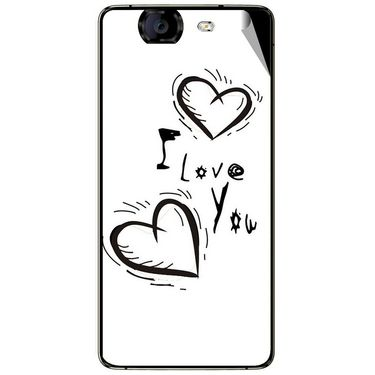 Snooky 46949 Digital Print Mobile Skin Sticker For Micromax Canvas Knight A350 - White