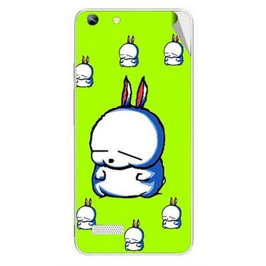 Snooky 46974 Digital Print Mobile Skin Sticker For Micromax Canvas Hue AQ5000 - Green