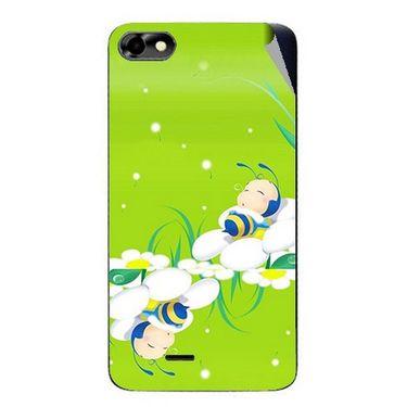 Snooky 47035 Digital Print Mobile Skin Sticker For Micromax Bolt D321 - Green