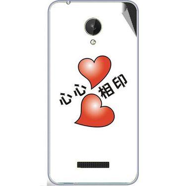 Snooky 47076 Digital Print Mobile Skin Sticker For Micromax Canvas Spark Q380 - White