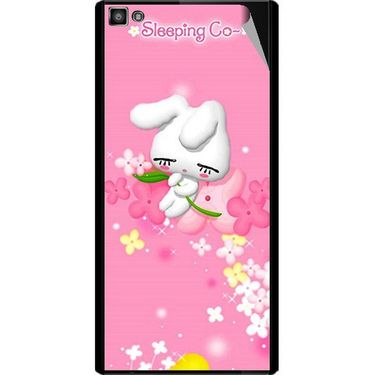 Snooky 47096 Digital Print Mobile Skin Sticker For Xolo Hive 8X-1000 - Pink