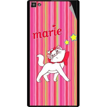 Snooky 47104 Digital Print Mobile Skin Sticker For Xolo Hive 8X-1000 - Pink
