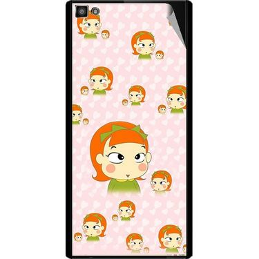 Snooky 47122 Digital Print Mobile Skin Sticker For Xolo Hive 8X-1000 - Orange