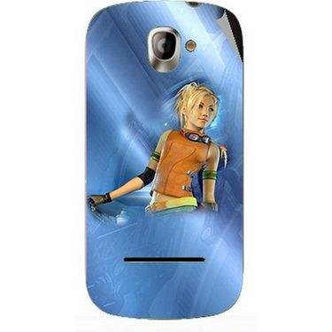 Snooky 47131 Digital Print Mobile Skin Sticker For Xolo A500 - Blue