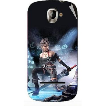 Snooky 47132 Digital Print Mobile Skin Sticker For Xolo A500 - Blue