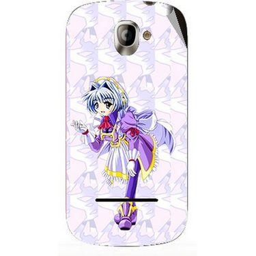 Snooky 47146 Digital Print Mobile Skin Sticker For Xolo A500 - Purple