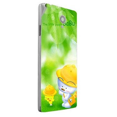 Snooky 47161 Digital Print Mobile Skin Sticker For Xolo A500 Club - Green