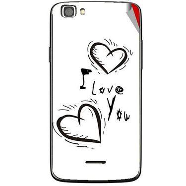 Snooky 47236 Digital Print Mobile Skin Sticker For Xolo A500s Lite - White