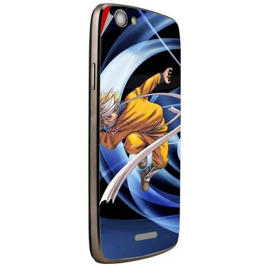 Snooky 47262 Digital Print Mobile Skin Sticker For Xolo A510S - Blue