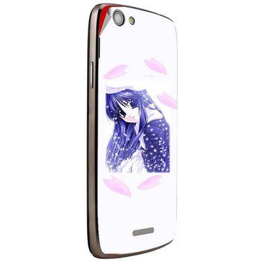 Snooky 47278 Digital Print Mobile Skin Sticker For Xolo A510S - White