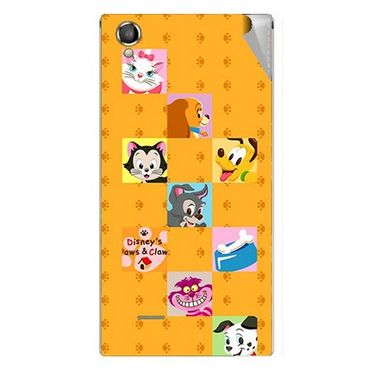 Snooky 47295 Digital Print Mobile Skin Sticker For Xolo A550S IPS - Yellow