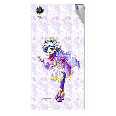 Snooky 47306 Digital Print Mobile Skin Sticker For Xolo A550S IPS - Purple