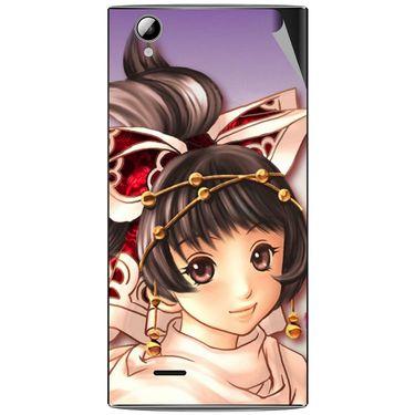Snooky 47317 Digital Print Mobile Skin Sticker For Xolo A600 - Multicolour