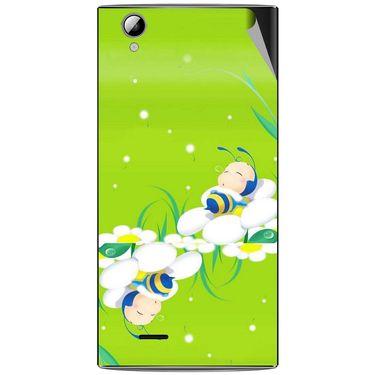 Snooky 47322 Digital Print Mobile Skin Sticker For Xolo A600 - Green