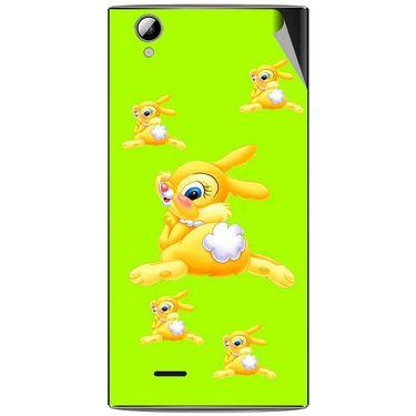 Snooky 47330 Digital Print Mobile Skin Sticker For Xolo A600 - Green