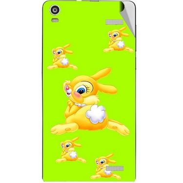 Snooky 47362 Digital Print Mobile Skin Sticker For Xolo A1000S - Green
