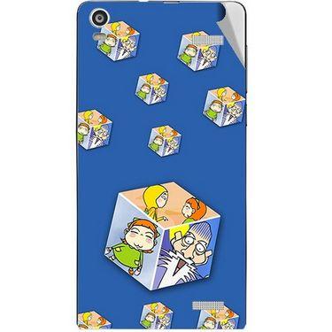 Snooky 47375 Digital Print Mobile Skin Sticker For Xolo A1000S - Blue