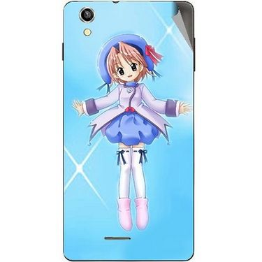 Snooky 47398 Digital Print Mobile Skin Sticker For Xolo A1010 - Blue