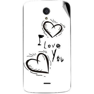 Snooky 47428 Digital Print Mobile Skin Sticker For Xolo Omega 5.0 - White