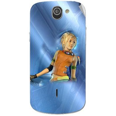 Snooky 47515 Digital Print Mobile Skin Sticker For Xolo Q600 - Blue