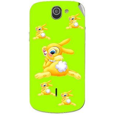 Snooky 47522 Digital Print Mobile Skin Sticker For Xolo Q600 - Green