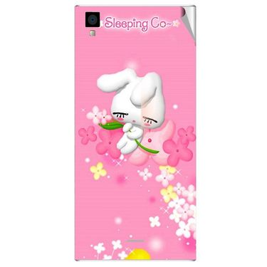 Snooky 47544 Digital Print Mobile Skin Sticker For Xolo Q600s - Pink