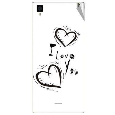 Snooky 47556 Digital Print Mobile Skin Sticker For Xolo Q600s - White