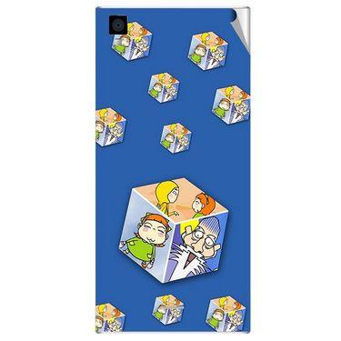 Snooky 47567 Digital Print Mobile Skin Sticker For Xolo Q600s - Blue