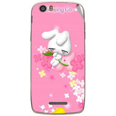 Snooky 47640 Digital Print Mobile Skin Sticker For Xolo Q700s - Pink